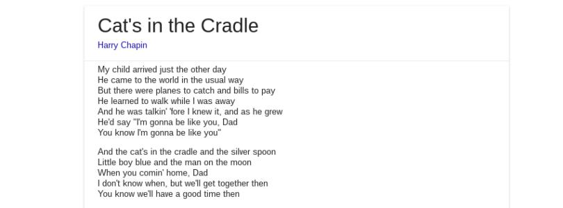 Google propose (aux USA) les paroles des chansons directement dans les résultats