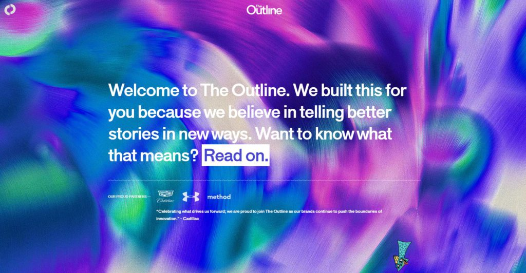 La homepage du site The Outline